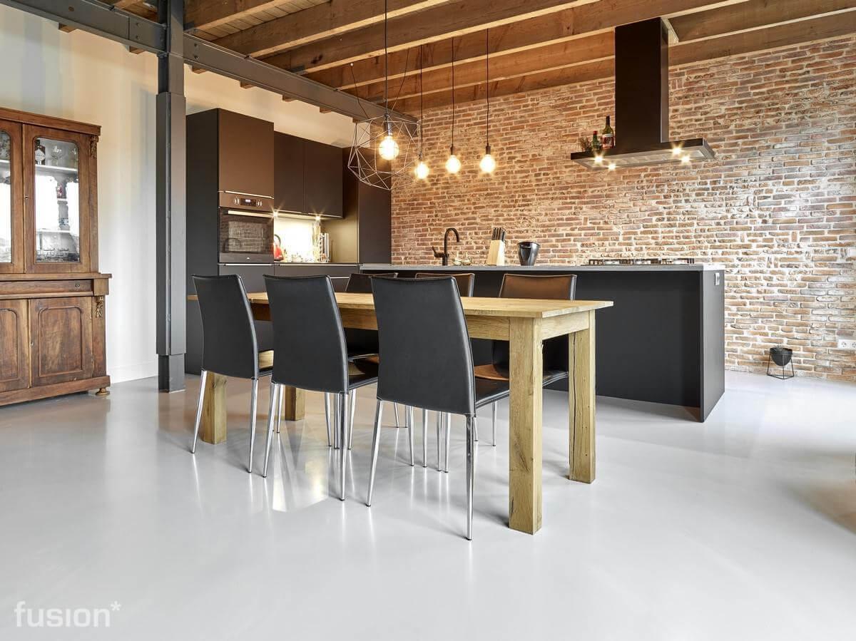 Industriele Vloer Woonkamer : Leef beton vloer ameland u moderne industriële betonlook vloeren